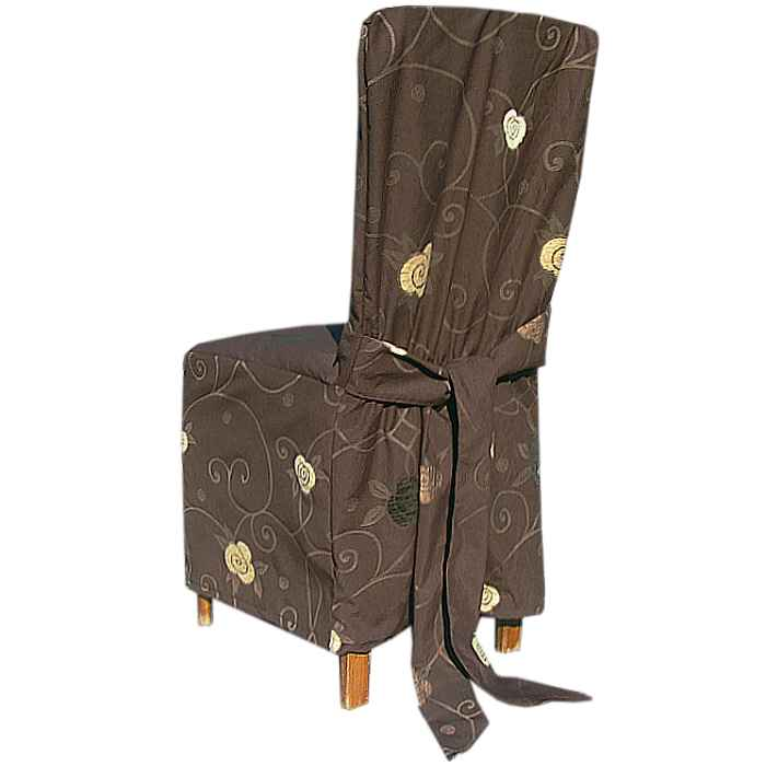 Návleky na stoličky hnedy ornament eshop